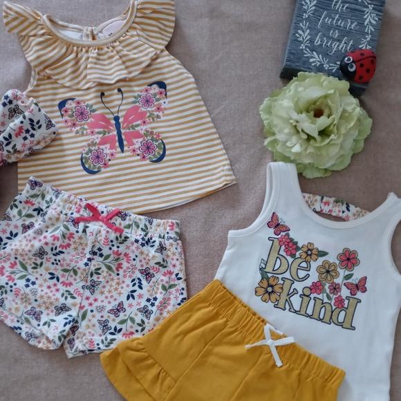 Little Lass Girl 12 Month 4 Piece Set